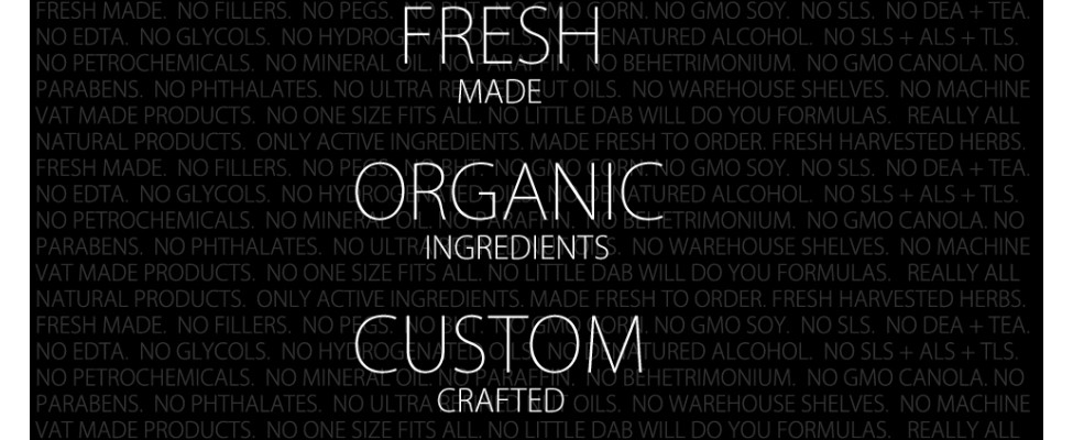 Beauty 4 Ashes Organic Ingredients