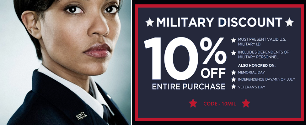 Military 10% off