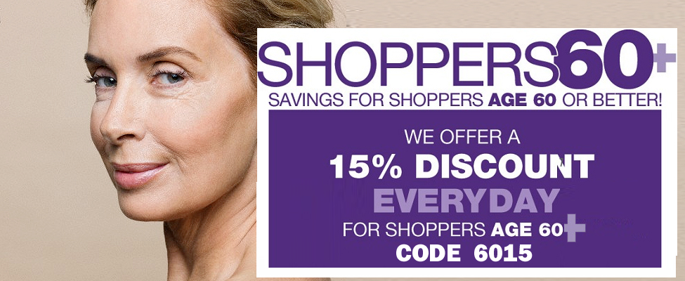 Seniors Discount 15% Off